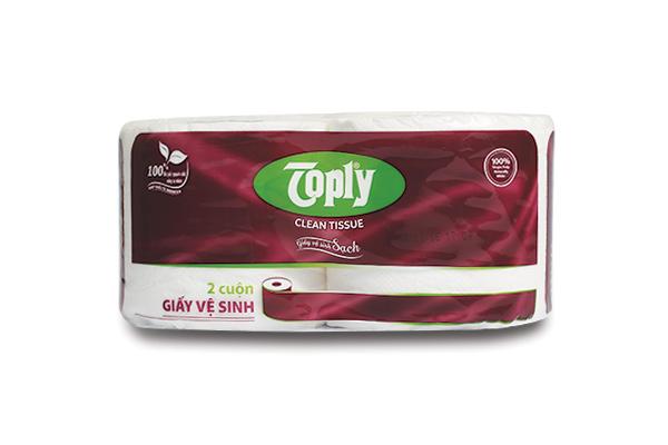 Toply giấy vệ sinh 2 cuộn 2 lớp