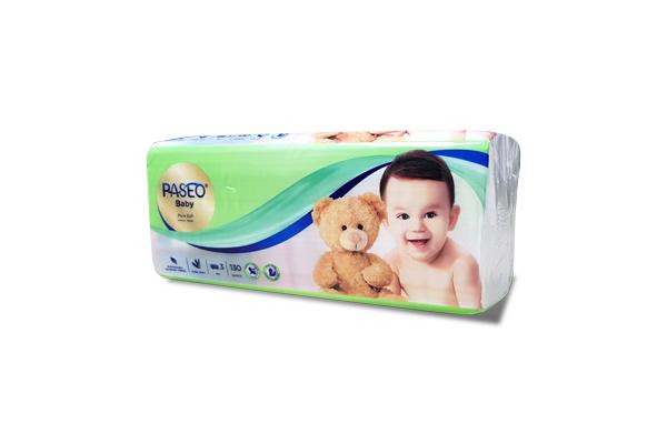 Khăn giấy lau mặt Paseo Baby 130 tờ 3 lớp
