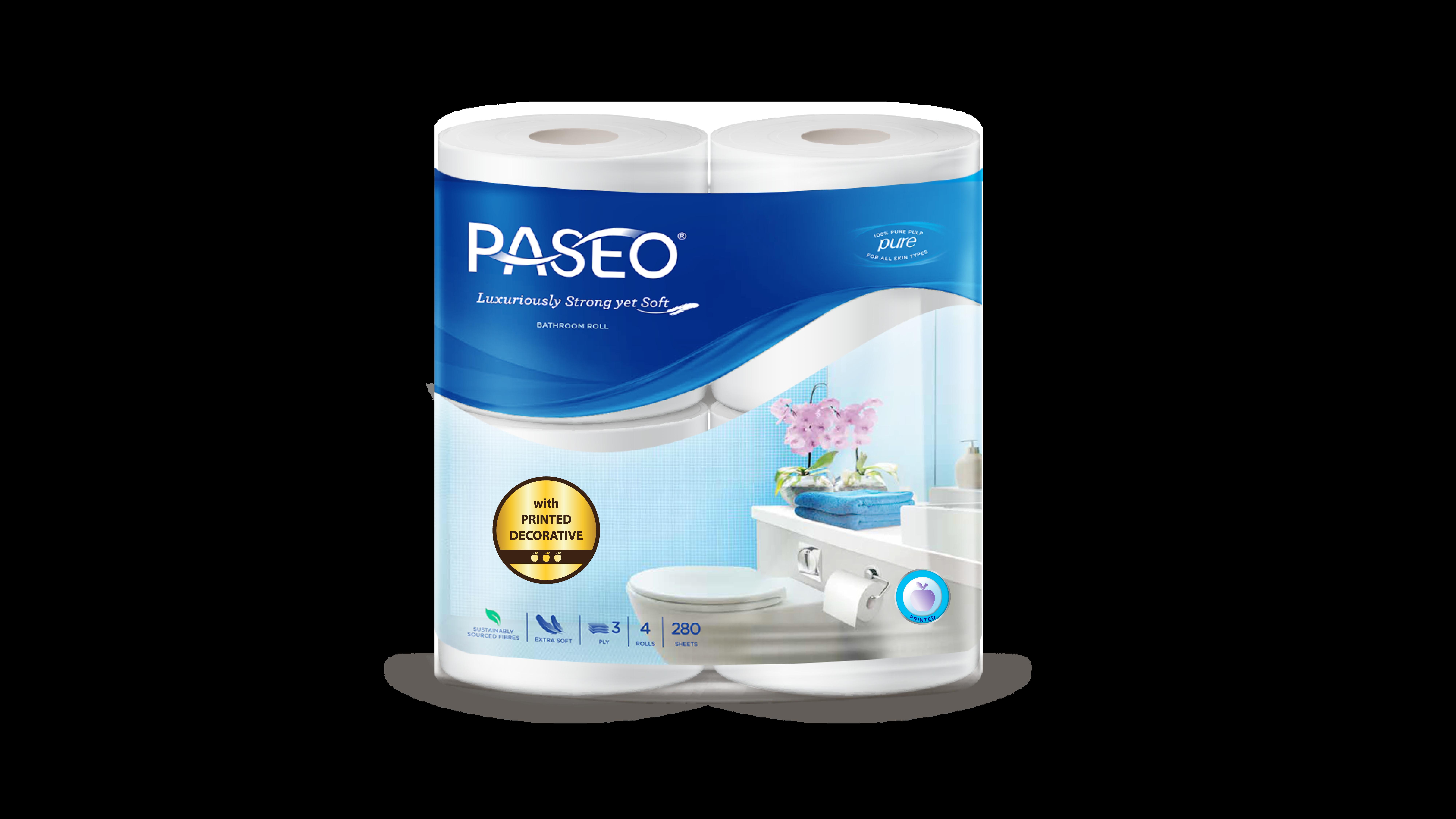 Giấy vệ sinh Paseo 4 cuộn 3 lớp (có in)